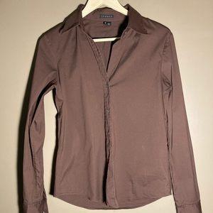Theory cotton nylon brown shirt